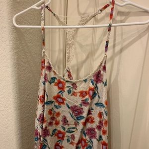 Floral Pattern Hollister Tank Top